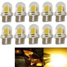 10pcs T10 194 168 W5W COB LED Light Bulbs 8SMD Silica Car Interior Amber Yellow