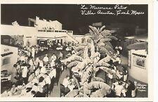 Villa Acuna Coahuila Mexico La Macarena Patio Real Photo Postcard c1940