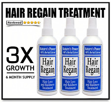 3X REAL REGROWTH - END HAIR LOSS REGAIN GROWTH - NO MINOXIDIL SIDE EFFECTS