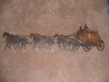 "Large western Stagecoach western wall art 47"" wide decor steel elegant STC48"