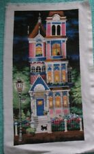Hand made Embroidery Cross Picture Factory Art Tapestry Fancywork Building Cat