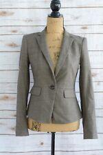 Ann Taylor - Heathered BROWN Wool blend Single BUTTON blazer size 0
