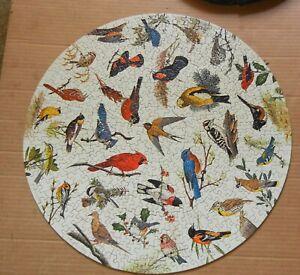 Vintage Springbok Circular Puzzle, Song Birds, complete, 1965
