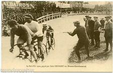 Vélos . Le Bol d'or 1910 . Gagné par Léon GEORGET sur Pneus Continental . Race