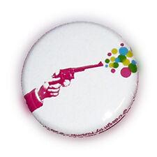Badge COLT BUBBLE pink revolver pistolet rockabilly kawaii hipster retro Ø25mm
