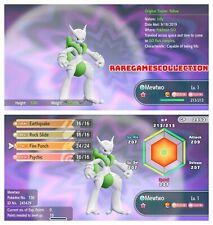 Pokemon Let's Go Pikachu Eevee ✨ SHINY ✨6 IV 1 LEVEL MEGA MEWTWO X FAST DELIVERY
