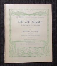 1900 RIP VAN WINKLE Legend of The Hudson by Washington Irving GD- 1.8