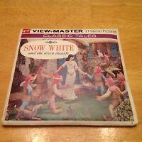 Walt Disney Snow White & The 7 Dwarfs ViewMaster 1955 Vintage 3 Reel Sealed B300