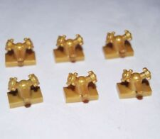 Lego X6 Pearl Gold Sink Faucet Tap 1x2 With Dual Handles Taps / City / Friends