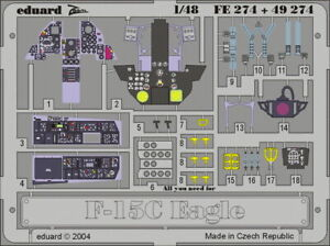 Eduard Models Colour Photoetch for 1/48 F-15C Eagle for Hasegawa kit