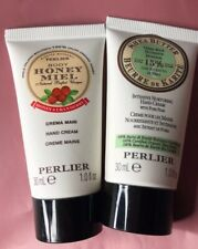 Perlier Honey & Cranberry & Pure Pear Hand Creams 1 oz. each New & Sealed