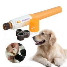 Pet Dog Cat Nail Claw Grooming Grinder Trimmer Clipper Electric File Supply UK