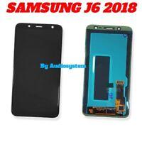 DISPLAY LCD TOUCH SCREEN+ BIADESIVO SAMSUNG GALAXY J6 2018 SM-J600FN NERO VETRO