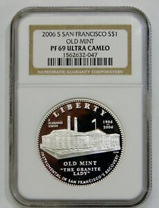 2006 S San Francisco Old Mint Proof Commemorative Silver Dollar - NGC PF 69 UC
