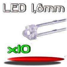 362/10# LED ROUGE 1,8mm 10 pcs --- 1800mcd