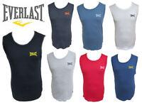 MENS EVERLAST Sports Vest 1 Pack BLACK WHITE NAVY RED GREY M L XL  great item