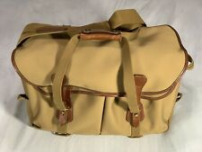 Billingham 555 Khaki Canvas Camera Bag with Tan Leather Trim And Inserts, VGC