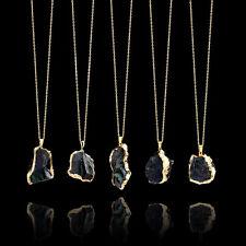 Fashion Natural Crystal Quartz Necklace Gemstone Healing Chakra Stone Pendant ym