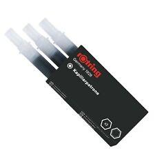 ROTRING scatola 3 Cartucce capillari colore NERO per penna a china RAPIDOGRAPH