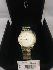 Bulova 98A208 Men's Two Tone White Dial Stainless Steel Watch       090W