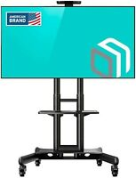 "ONKRON Mobile TV Stand TV Cart for 32"" – 65 inch Screens up to 100 lbs, TS15-51"