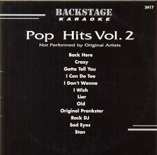 Pop Hits Vol. 2 Karaoke Backstage Vol. 3417 CD+G