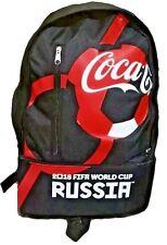NEW BLACK COCA COLA BACKPACK ⚽ FIFA WORLD CUP RUSSIA 2018 ⚽ COKE SCHOOL BAG
