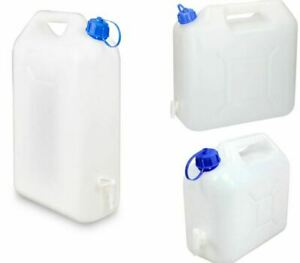 Water Storage Containers 5/10/15L litre Carrier Tap Spout Food Grade Jerry Can