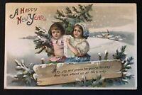 New Year/Children Ellen Clapsaddle Happy~New Year ~Antique Postcard-b459