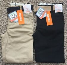 Gymboree School Uniform Boys Pant Classic Fit Adjustible Waist Size 8 Slim Nwt