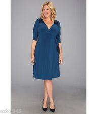 NWT Beautiful Plus Size Julieanne Wrap Dress by Kiyonna, 1X