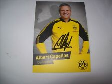 Autogrammkarte Albert Capellas Borussia Dortmund, BVB 2017/18 17/18 RAR ABGANG !