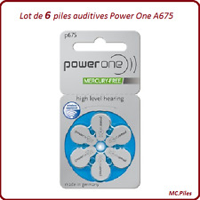 Set Knopfbatterien mündliche Verhandlung Power One Geräte A675, de 1 à 60 piles