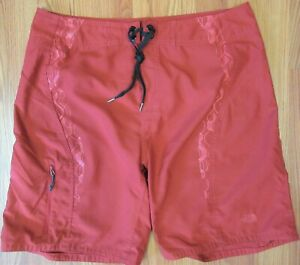 THE NORTH FACE Mens UNLINED POLYESTER SWIMTRUNKS SWIM SHORTS RED Sz 36