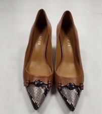 COACH Nude Pumps Sz 8B Women's Sneak Print Front