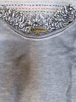 Democracy Women's Top Size Small Long Sleeve Cotton Blend Ruffled Blouse Shirt.