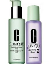 Clinique Liquid Facial Mild Soap Face Wash and Clarifying Lotion 2 2x200ml Duo