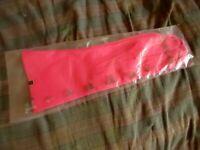 "sz 6.5 True Vtg 60s NOS Grandoe Formal Ladies Pink 10"" 100% cotton Dress Gloves"