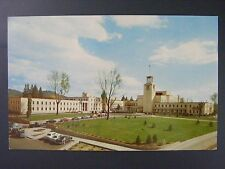 Santa Fe New Mexico State Capitol Building Old Cars Vintage Color Postcard 1950s