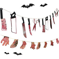 Spooky Halloween Party Haunted House Hanging Garland Banner Pennant Decoration#