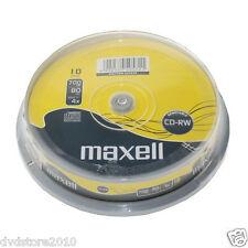 1x10 Maxell Cd-rw 80 riscrivibile 700mb 1x-4x Fuso (624039) (eu Shop)003-987