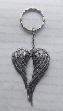 A Tibetan Silver  Big Angle Wings (68*46mm) , KEYRING, Key Chain Handbag, Charm