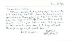 Doug Wright- Signed Notecard (Canadian Cartoonist)