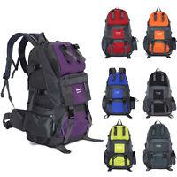 50L Outdoor Hiking Backpack Nylon Bag Camping Travel Waterproof Mountaineering