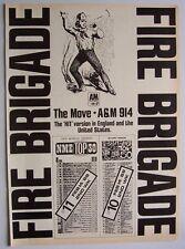 The Move 1968 Poster Ad Fire Brigade