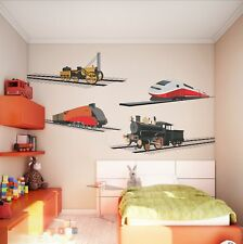 Childrens Locomotives Rails rail trains Retro steam Wall Stickers Decal 14