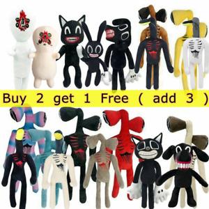 Cartoon Siren Head Horror Plush Black Cat Dog Stuffed Doll Kids Easter Gift Toy