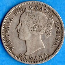 Canada 1882 H 10 Cents Ten Cent Silver Coin - F/VF