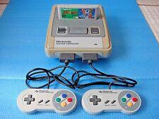 Nintendo SNES Super Famicom Console & Soccer Prime Goal 2 game software - TESTED