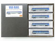 Z Scale Micro-Trains MTL 99401210 Via Rail 4-Car Passenger Runner Pack